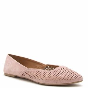 Shoes - Perforated and Distressed Blush Flat